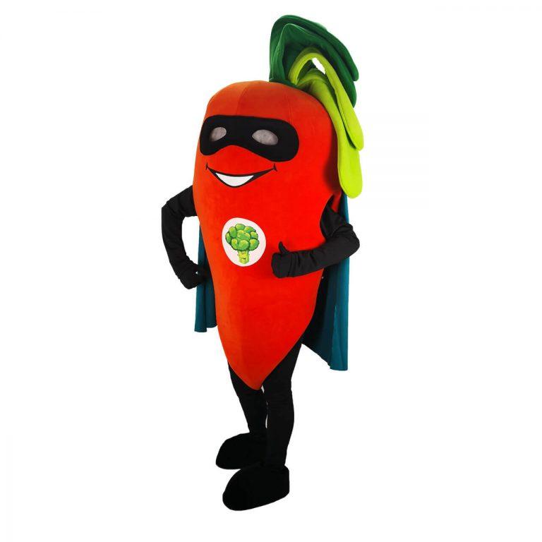 Маскот костюм Супер Морков