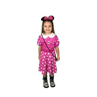 Детски парти костюм Мини Маус розова