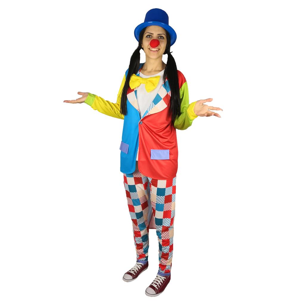 Универсален парти костюм Клоун с шапка, Универсален размер