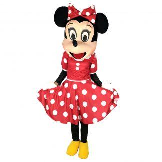 Маскот парти костюм Мини Маус червена, Универсален размер