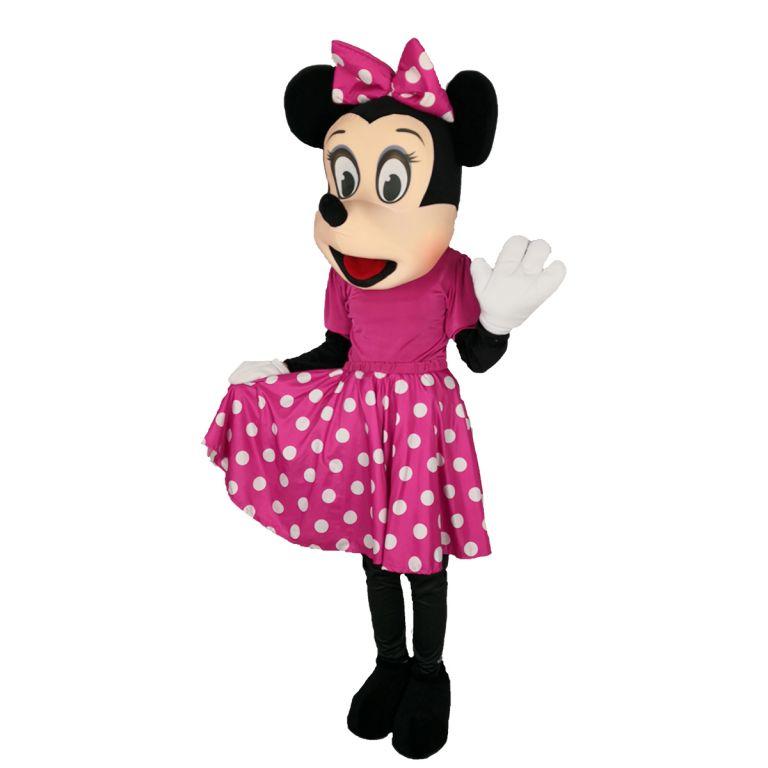 Маскот Костюм под наем Мини Маус с цикламена роклякостюм Мини Маус цикламена, Универсален размер