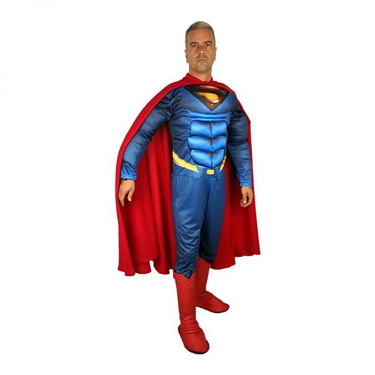 Мъжки парти костюм Супермен, Универсален размер